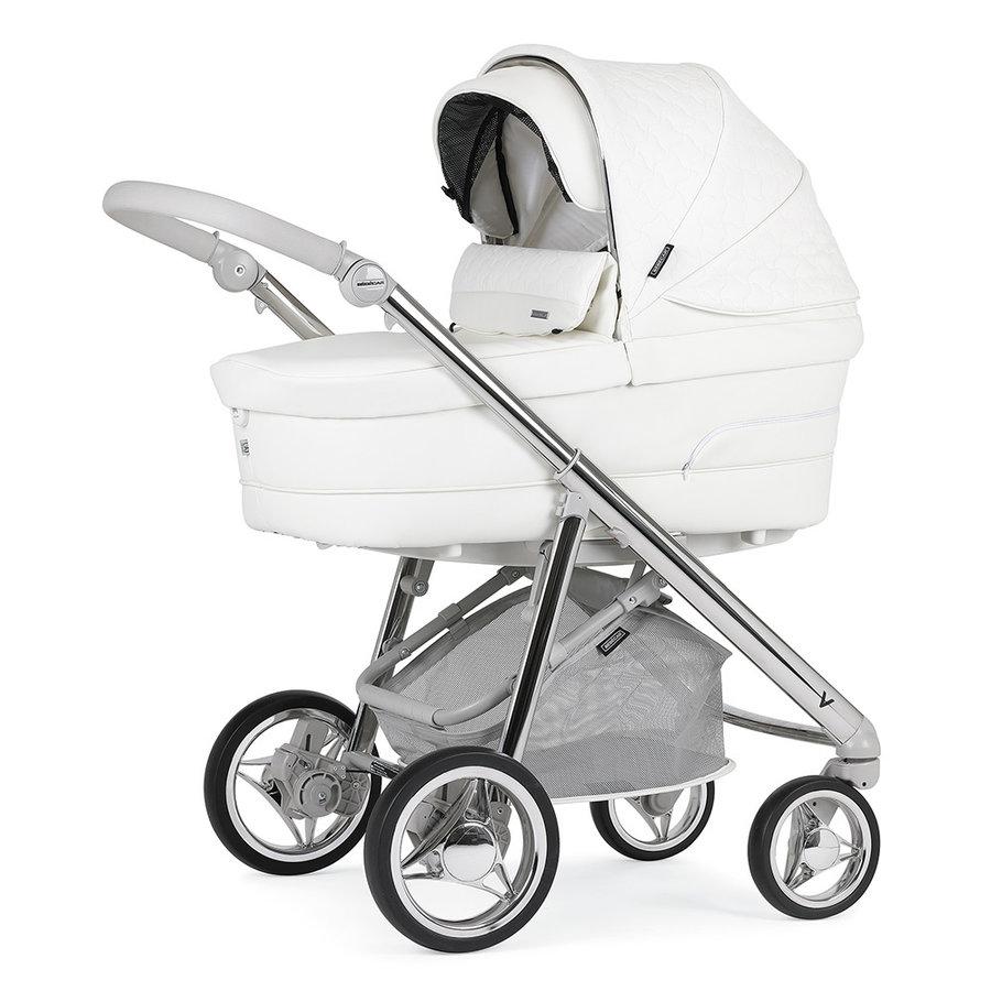 Kinderwagen V-Pack (wit/zilver) - Bébécar
