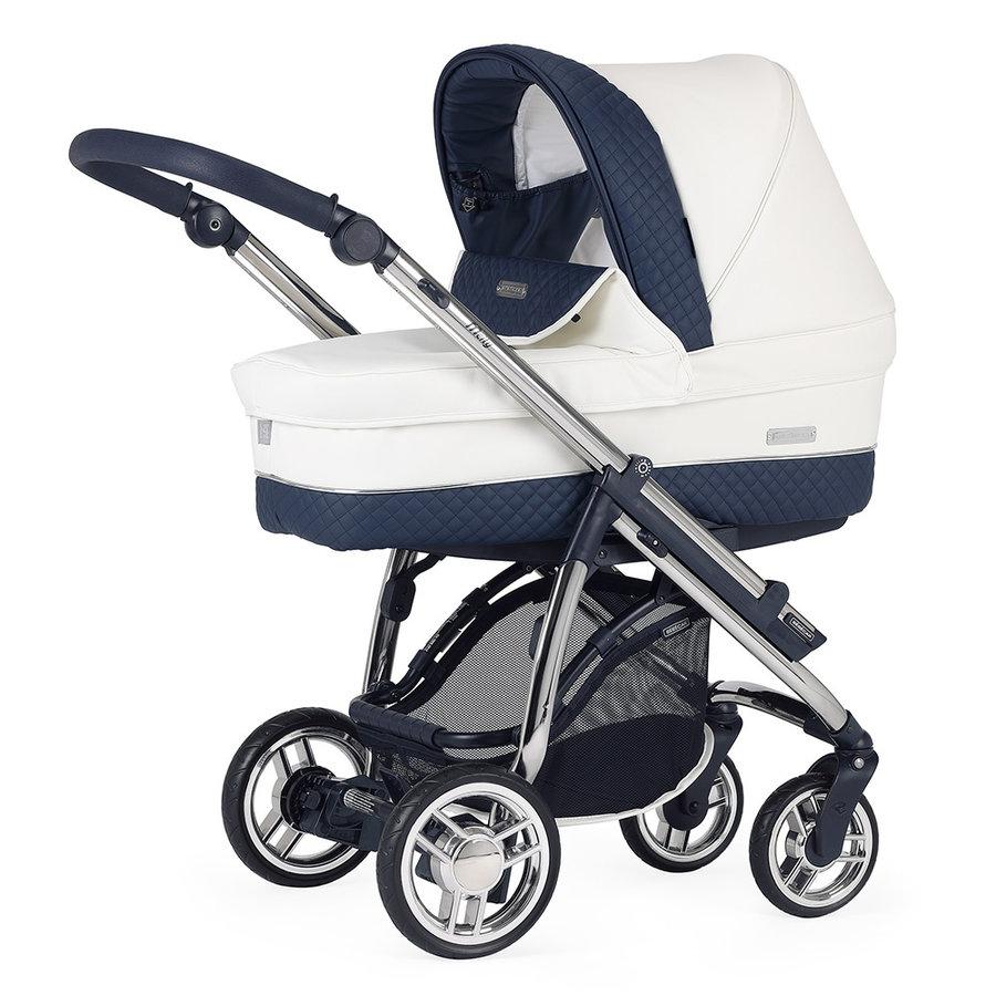 Kinderwagen Pack M-city (wit/blauw) - Bébécar