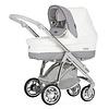 Kinderwagen Pack M-city (wit/grijs) - Bébécar