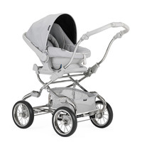 Kinderwagen Pack Stylo XL (wit/grijs) - Bébécar
