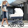 BéBécar: Exclusieve & Luxe Kinderwagens Kinderwagen Pack Stylo XL (wit/blauw) - Bébécar