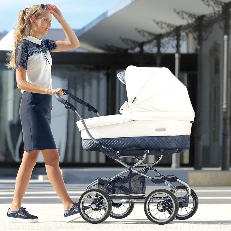 Kinderwagen Pack Stylo XL (wit/blauw) - Bébécar