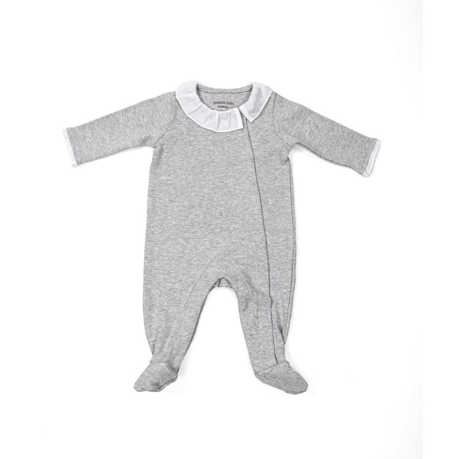 Babypakje met kraag (Grijs Melange) - Poetree Kids