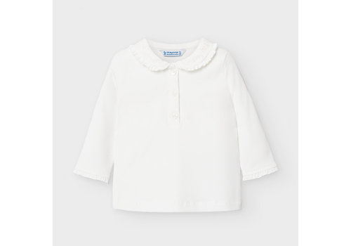 Polo met ruches (off white) - Mayoral