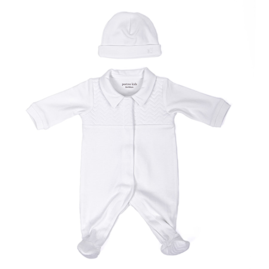 Baby mutsje (Chevron White) - Poetree Kids