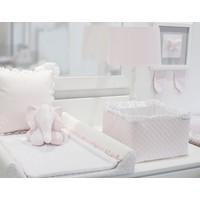 Roze opbergmandje