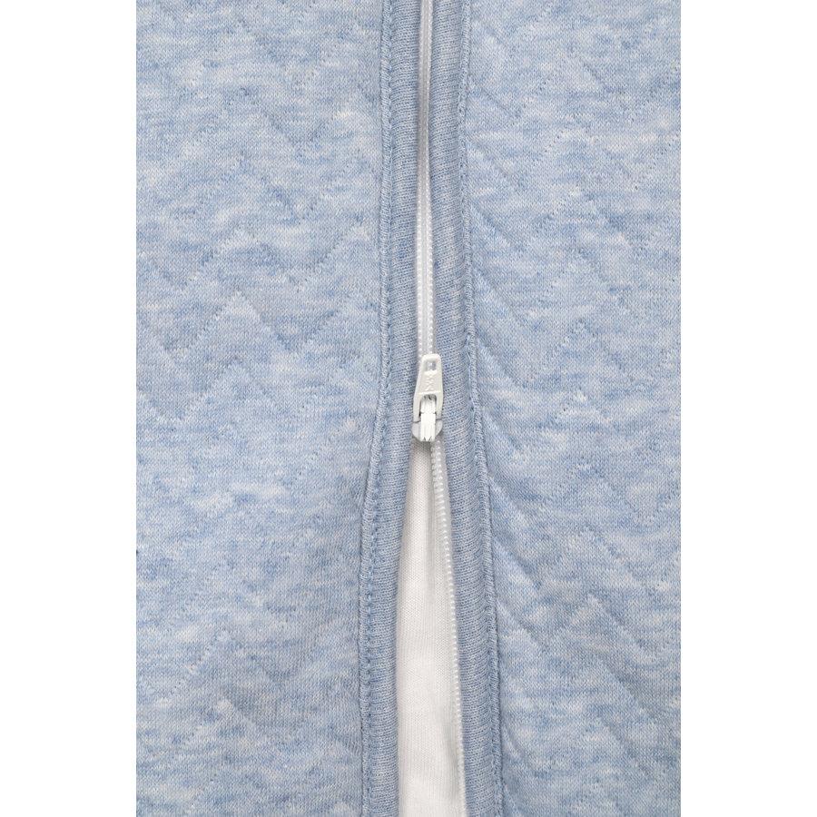 Trappelzak 90cm blauw (Chevron Denim Blue) - Poetree Kids