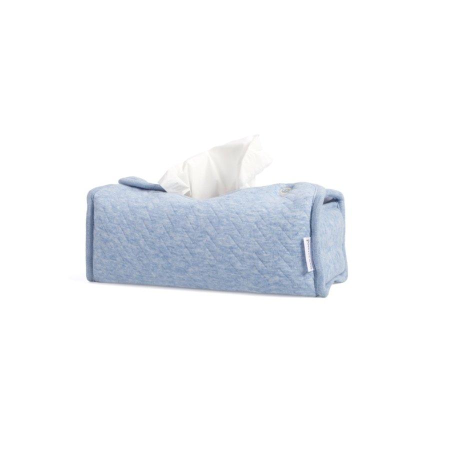 Tissue box hoes blauw (Chevron Denim Blue) - Poetree Kids