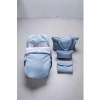 Verschoningsmatje blauw (Chevron Denim Blue) - Poetree Kids