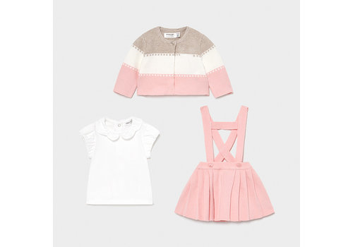 Driedelige set (roze/wit) - Mayoral