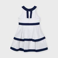 Linnen jurk met strepen (navy) - Mayoral