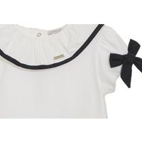 Shirt met navy strikjes (wit) - Patachou