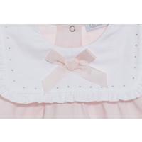 Set: shirt & broek met siersteentjes (roze) - Patachou