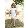 Patachou: Babykleding & Kinderkleding Shirt met strikjes en roze kraag (wit) - Patachou