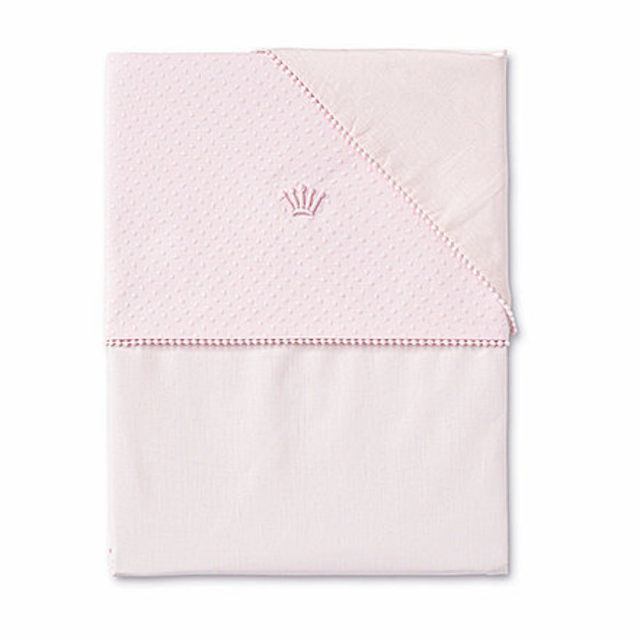 Ledikant laken set (roze) - First (My First Collection)