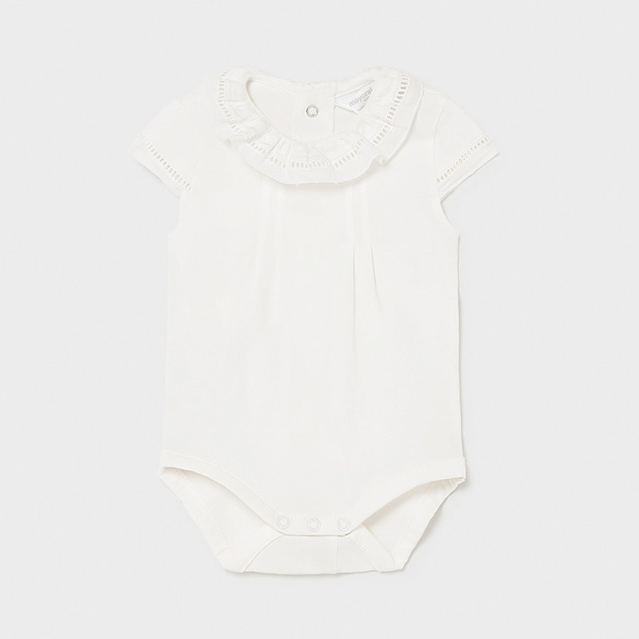 Body/romper met plooien (off white) - Mayoral