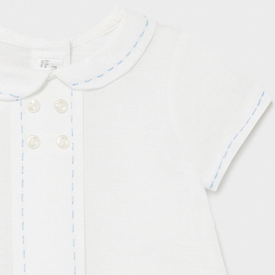 Set: short & shirt (wit/blauw) - Mayoral