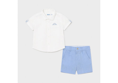 Set: short & overhemd (blauw) - Mayoral