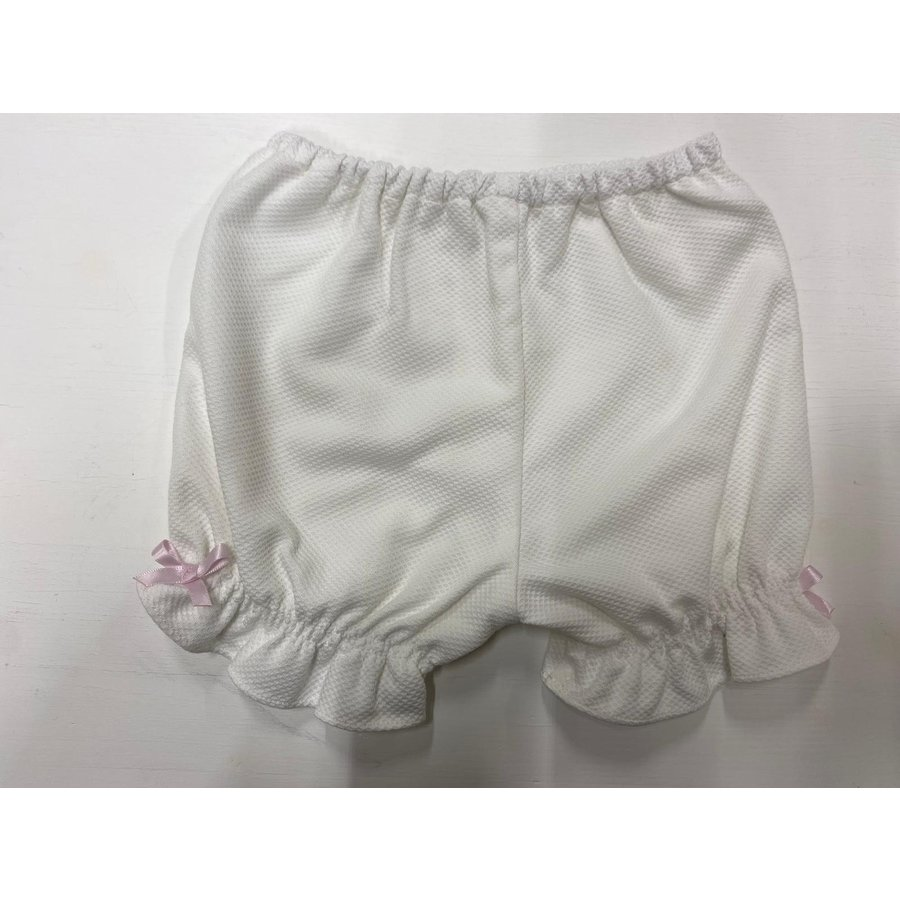 Tuniek Alice pique (wit) - DOT (Delicate Baby Clothes)