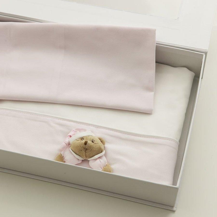 Puccio roze lakenset (set van 3) - Nanan