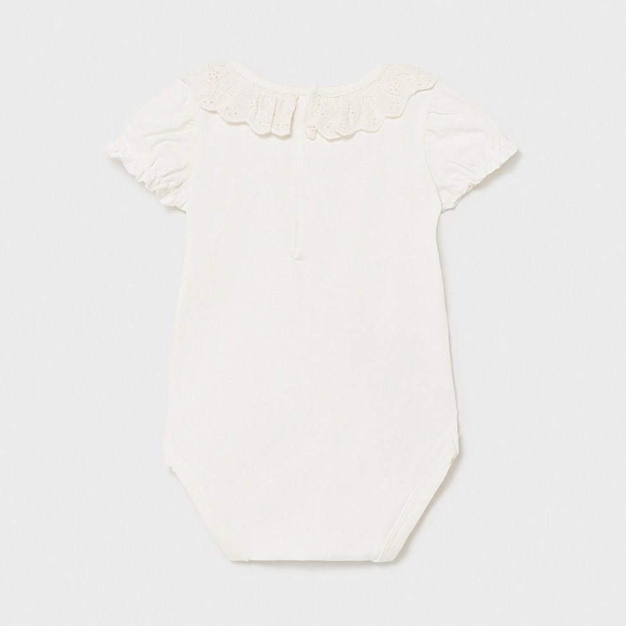 Body/romper met ruches (off white) - Mayoral