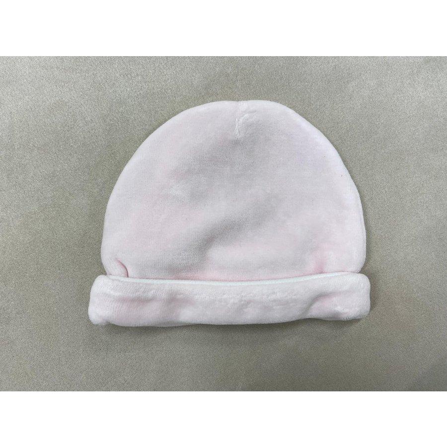 Mutsje met witte rand (roze) - Patachou