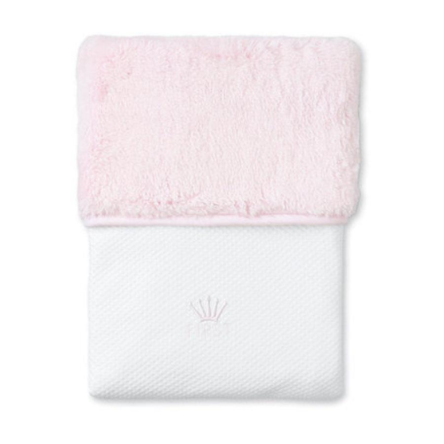 Deken gevoerd met roze imitatiebont (roze) - First (My First Collection)