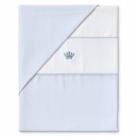 Dekbedovertrek 80cm x 80cm (blauw) - First (My First Collection)