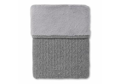 Gebreide deken wol/cashmere (grijs) - First (My First Collection)