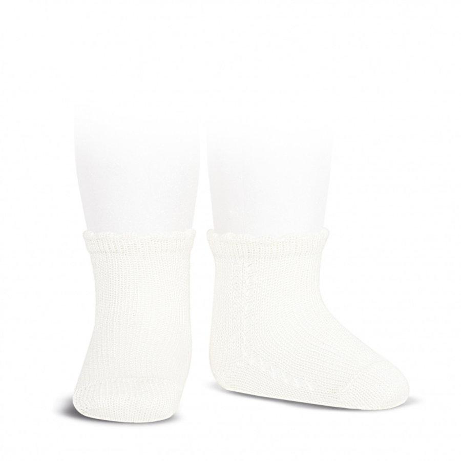 Korte opengewerkte sokken (beige) - Condor