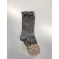 Sok met fluwelen strikje (grijs) - Patachou