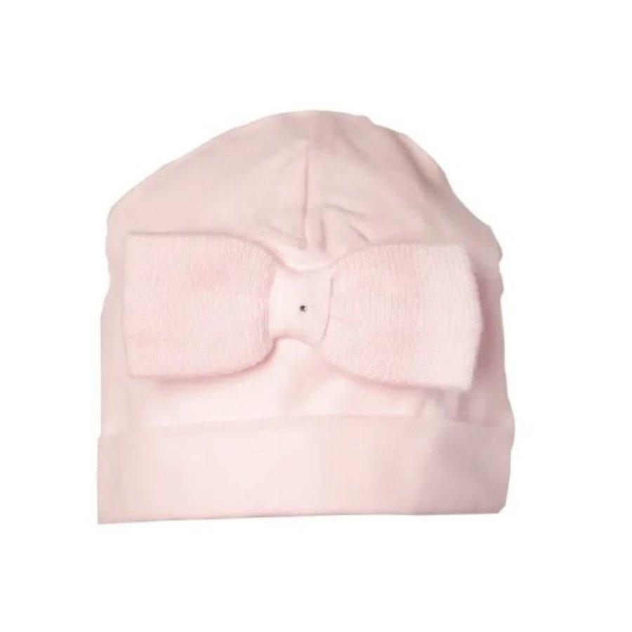 Mutsje met strik (roze) - First (My First Collection)