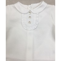 Babypakje met geplooid borststuk (off white) - Pureté