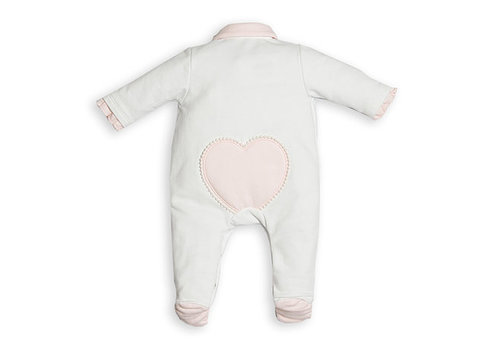 Babypakje met roze hartje & kant - First (My First Collection)
