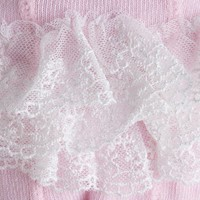 Roze maillot met ruches