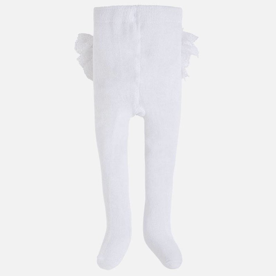 Witte maillot met ruches