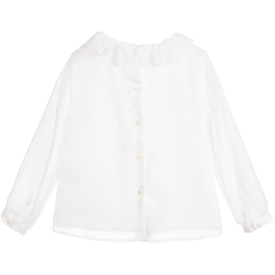 Off white blouse met plooitjes - Patachou