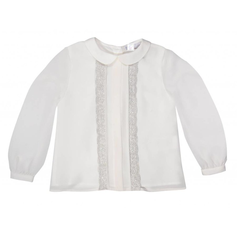 Off white blouse met kant - Patachou