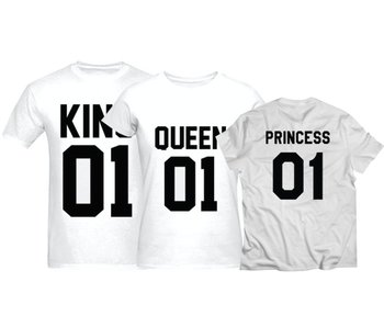 T-shirt Set Princess + King + Queen (Baby Sizes)