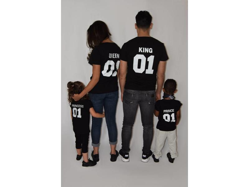 T-shirt Set Prince + King + Queen  (Baby Sizes)