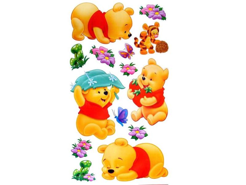 Muursticker Winnie The Pooh.Wall Sticker Winnie The Pooh Hipp Kiddo
