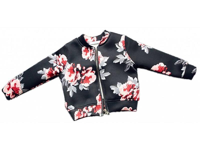 Jacket Floral (Zwart)