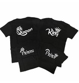 T-shirt Set Crown Princess + Prince + King + Queen