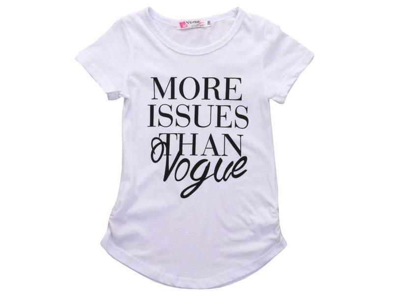 T-shirt Vogue (Zwart)