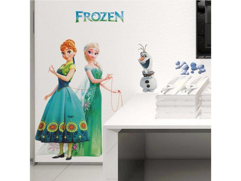 Muur Sticker Elsa & Anna