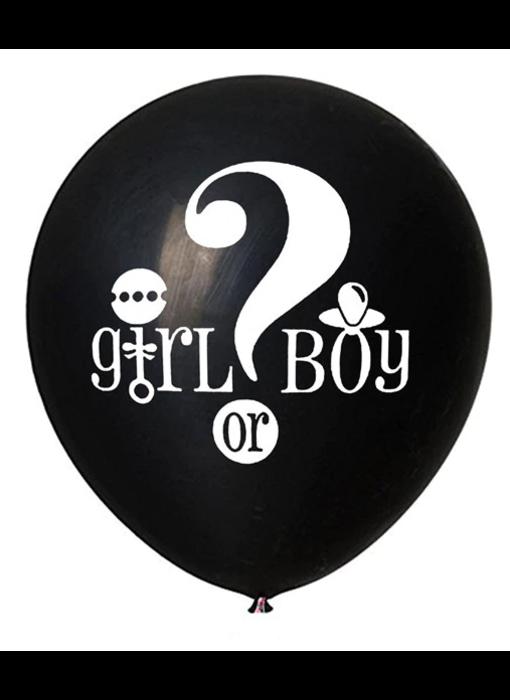 Gender Reveal Confetti Ballon Meisje of Jongen?