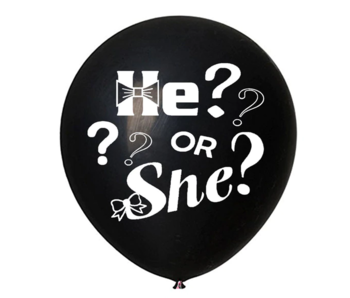Gender Reveal Confetti Ballon Hij of Zij?