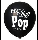 Gender Reveal Confetti Ballon Hij of Zij? Pop om te zien!