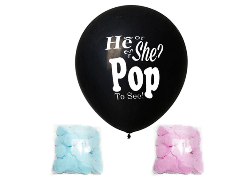 Gender Reveal Confetti Balloon He or She? Pop To See!