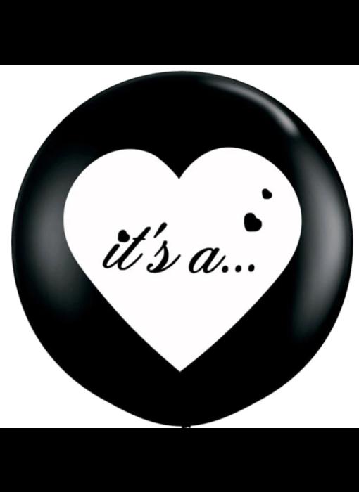 Gender Reveal Confetti Ballon Het is een..
